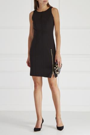 Платье с декоративной молнией Yes London. Цвет: черный