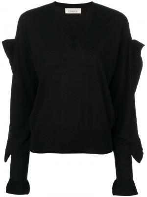 Декорированный свитер с V-образным вырезом Laneus. Цвет: чёрный