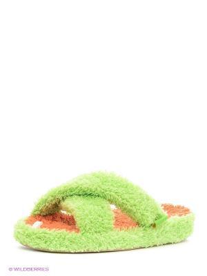 Тапочки Dream Feet. Цвет: зеленый