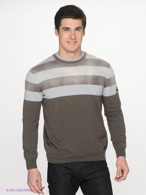 Джемпер Navigare. Цвет: серо-коричневый, светло-серый