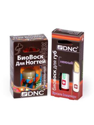 Набор Биовоск: Для губ Нежный  и ногтей Питательный DNC. Цвет: светло-желтый, золотистый