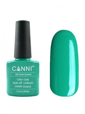 Гель лак №158 CANNI. Цвет: зеленый