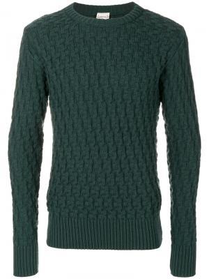 Текстурированный джемпер S.N.S. Herning. Цвет: зелёный