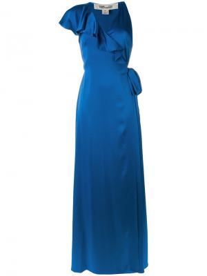 Платье макси с оборками Diane Von Furstenberg. Цвет: синий