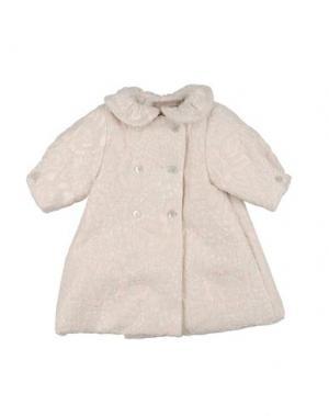 Пальто LA STUPENDERIA. Цвет: светло-розовый