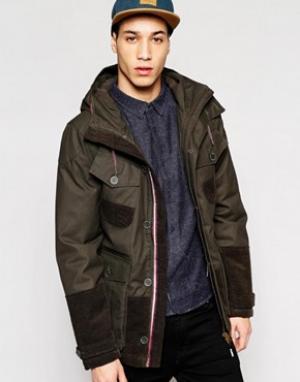 Puffa Куртка с капюшоном Aiden. Цвет: черный