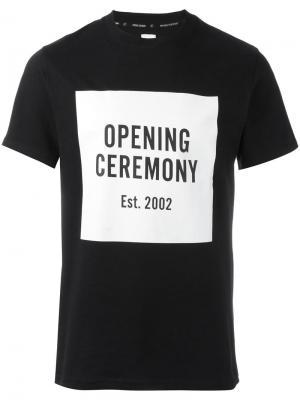 Футболка с принтом логотипа Opening Ceremony. Цвет: чёрный
