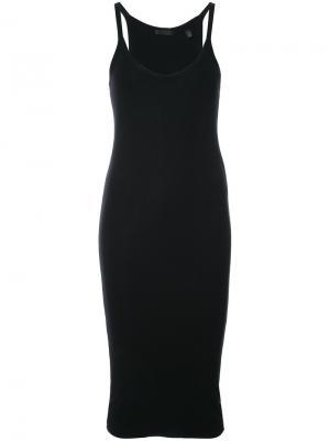 Платье-комбинация с вырезом-ковш Atm Anthony Thomas Melillo. Цвет: чёрный