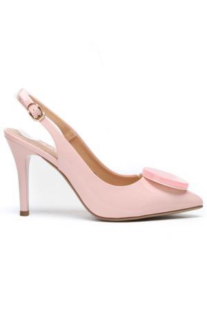 Туфли летние открытые Daze. Цвет: светло-розовый