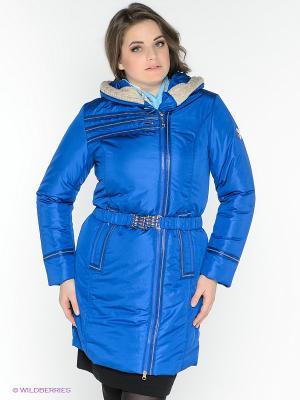 Пальто X'cluSIve. Цвет: синий