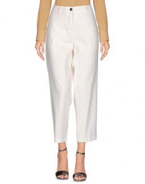 Повседневные брюки INX #THINK COLORED. Цвет: белый