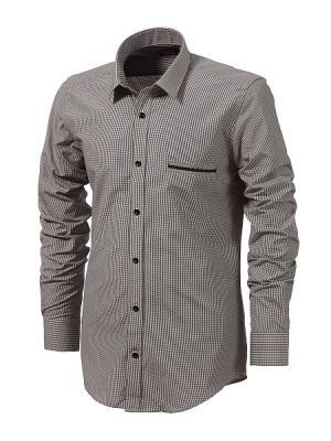 Рубашка BIRIZ. Цвет: серый, черный