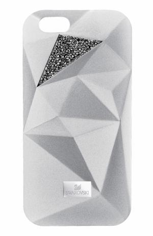Чехол для iPhone 7 Facets с графичным принтом Swarovski. Цвет: серебряный
