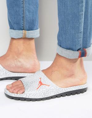 Jordan Серые шлепанцы Nike Air Superfly 842400-007. Цвет: серый