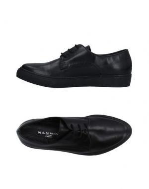Обувь на шнурках NANNINI. Цвет: черный