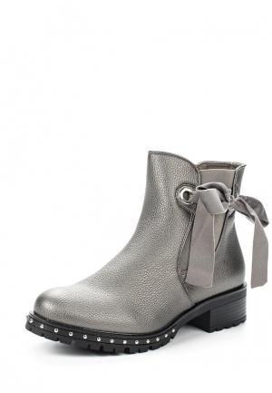 Ботинки Ideal Shoes. Цвет: серебряный