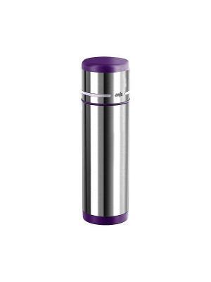 Термос EMSA MOBILITY 0.7л фиолет/нерж.сталь 509227. Цвет: серый, фиолетовый