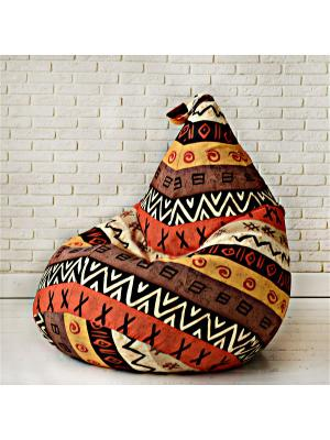 Кресло-мешок АФРИКА MyPuff. Цвет: коричневый, бежевый, оранжевый