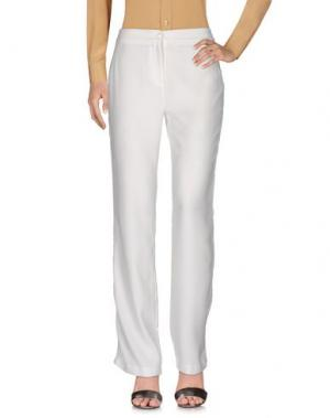 Повседневные брюки LAUREN VIDAL. Цвет: слоновая кость