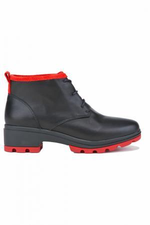 Ботинки Milana. Цвет: черно-красный
