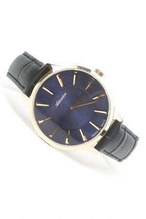 Часы наручные Adriatica. Цвет: синий, желтый