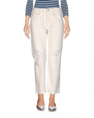 Джинсовые брюки ONEDRESS ONELOVE. Цвет: белый