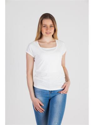 Блуза с секретом кормления Ням-Ням. Цвет: молочный