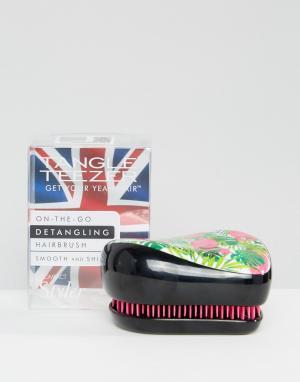 Tangle Teezer Компактный стайлер с фламинго x Skinny Dip. Цвет: черный