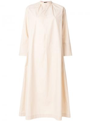 Длинное платье-рубашка Joseph. Цвет: телесный