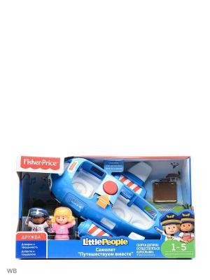 Little People Самолет Путешествуем вместе Mattel. Цвет: синий