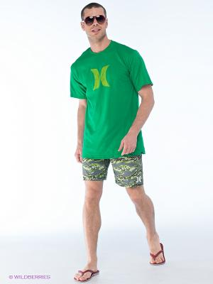 Бордшорты Hurley. Цвет: темно-зеленый, зеленый