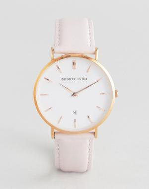 Abbott Lyon Часы с кожаным ремешком Kensington 40. Цвет: розовый