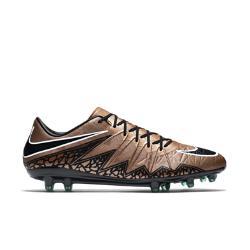 Мужские футбольные бутсы для игры на твердом грунте  Hypervenom Phinish II Nike. Цвет: коричневый