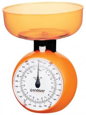 Кухонные весы Endever. Цвет: оранжевый
