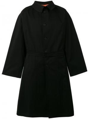 Пальто с широкими рукавами Komakino. Цвет: чёрный