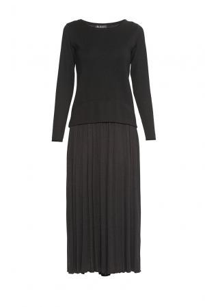 Платье из шерсти 179769 Baroni. Цвет: черный