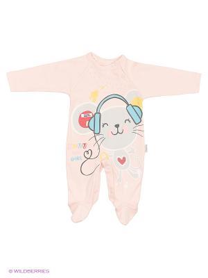 Комбинезон для малышей WO&GO. Цвет: бледно-розовый