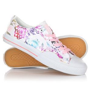 Кеды кроссовки низкие женские  Geisha Low Pink Vision. Цвет: белый,розовый
