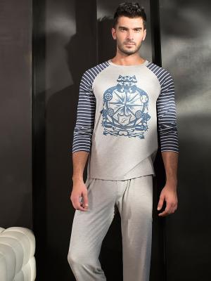 Пижама Laete. Цвет: серый меланж