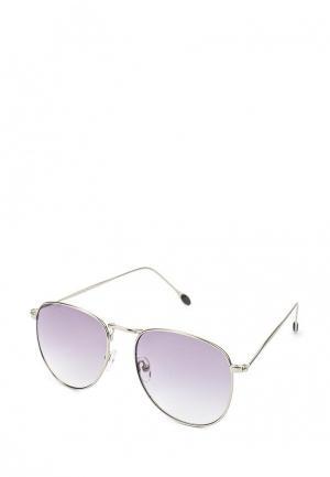 Очки солнцезащитные Fabretti. Цвет: серебряный