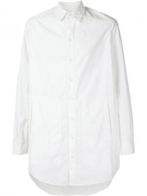 Рубашка с ребристой фактурой Uma Wang. Цвет: белый