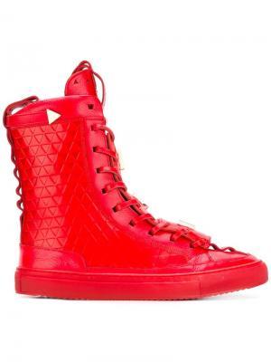 Хайтопы на шнуровке K1x X Patrick Mohr. Цвет: красный