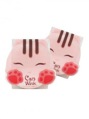 Компактная пудра для лица CATS WINK № 2 ,11г Tony Moly. Цвет: коралловый