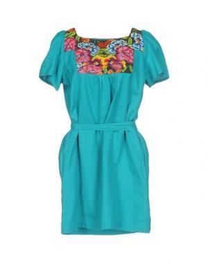 Короткое платье INTROPIA. Цвет: лазурный
