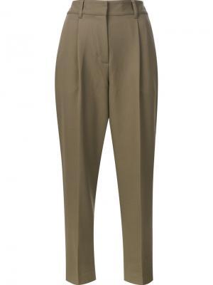 Укороченные брюки 3.1 Phillip Lim. Цвет: зелёный