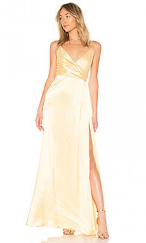 Вечернее платье JILL STUART. Цвет: желтый
