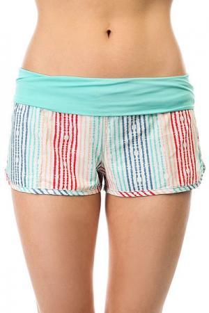 Шорты пляжные женские  Endless Sum Pt Olmeque Stripe Combo Roxy. Цвет: мультиколор