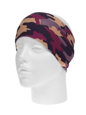 Повязка на голову Infiniti. Цвет: фиолетовый, бежевый