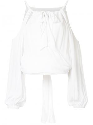 Блузка Swept Away с открытыми плечами Manning Cartell. Цвет: белый