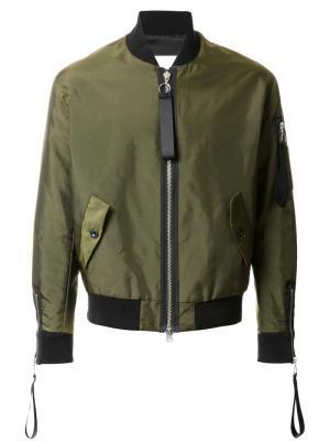 Куртка-бомбер на молнии Matthew Miller. Цвет: зелёный
